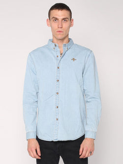 Canyon Shirt - Light Wash Blue - THRILLS CO - 1