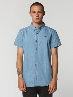 CANYON S/SLEEVE SHIRT - RECKLESS BLUE