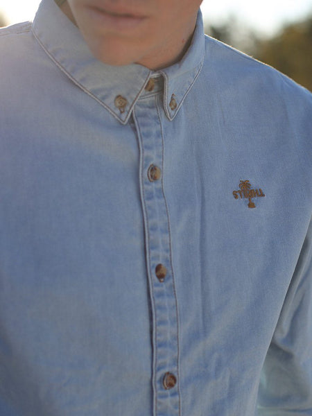 Canyon Shirt - Light Wash Blue - THRILLS CO - 5