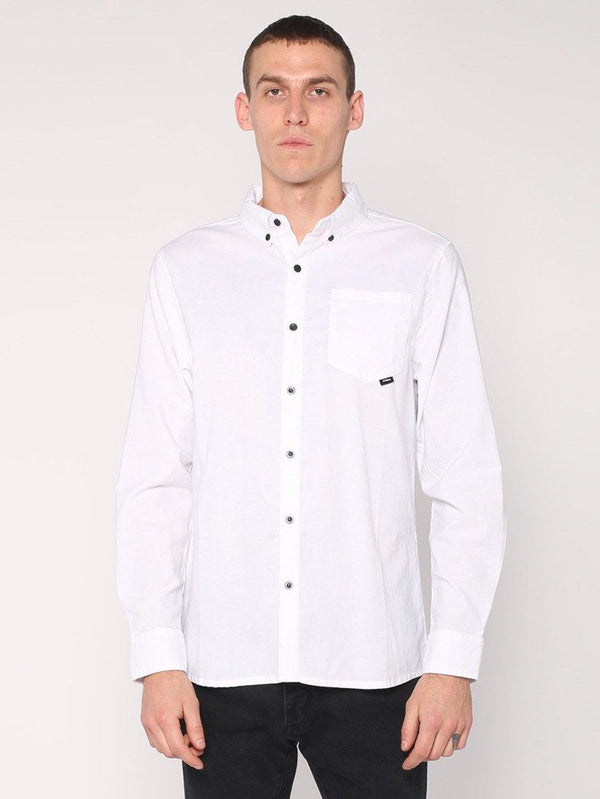 Basic Long Sleeve Shirt - White - THRILLS CO - 1