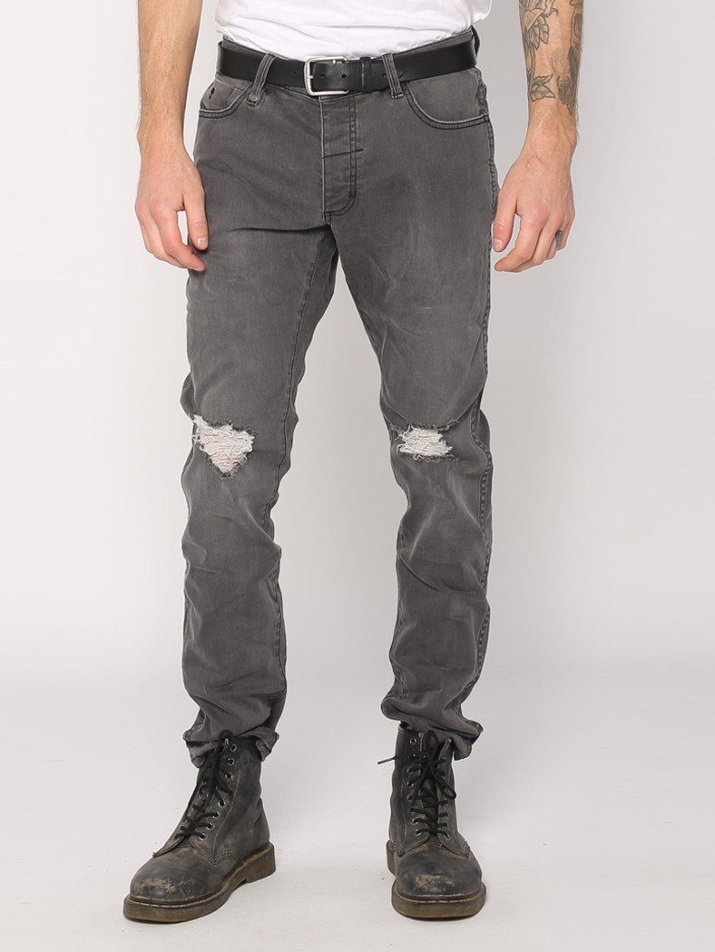 Destroyed Bones Jeans  - Faded Grey - THRILLS CO - 1