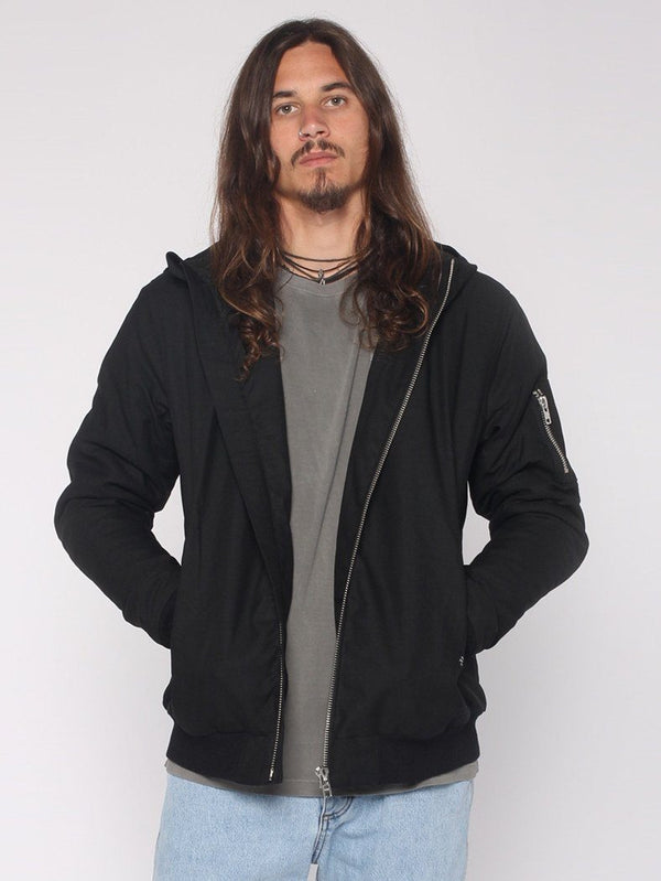 Hooded Bomber - Black - THRILLS CO - 1