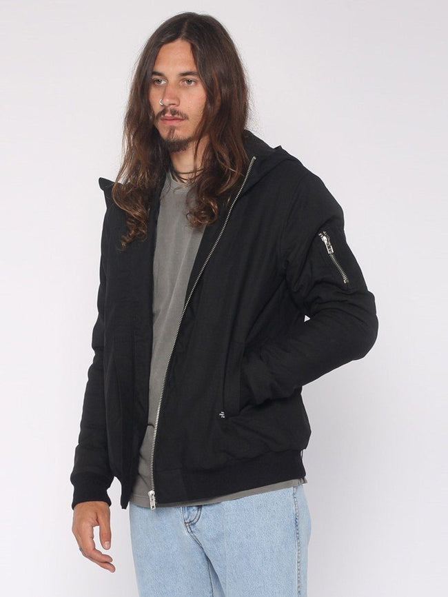 Hooded Bomber - Black - THRILLS CO - 2