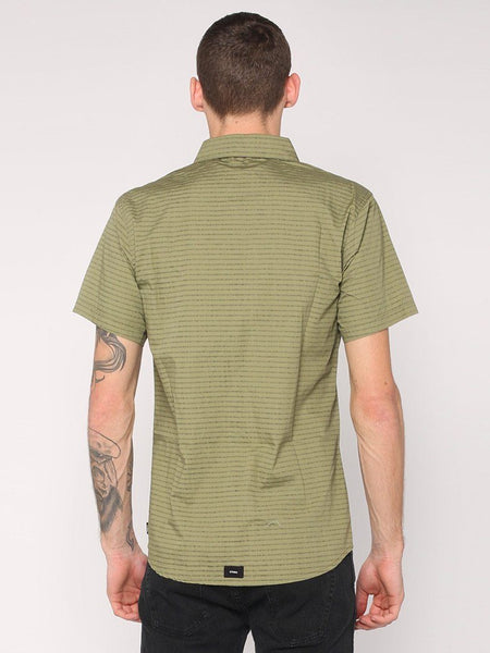 Inside Out Stripe Shirt - Army Green - THRILLS CO - 3