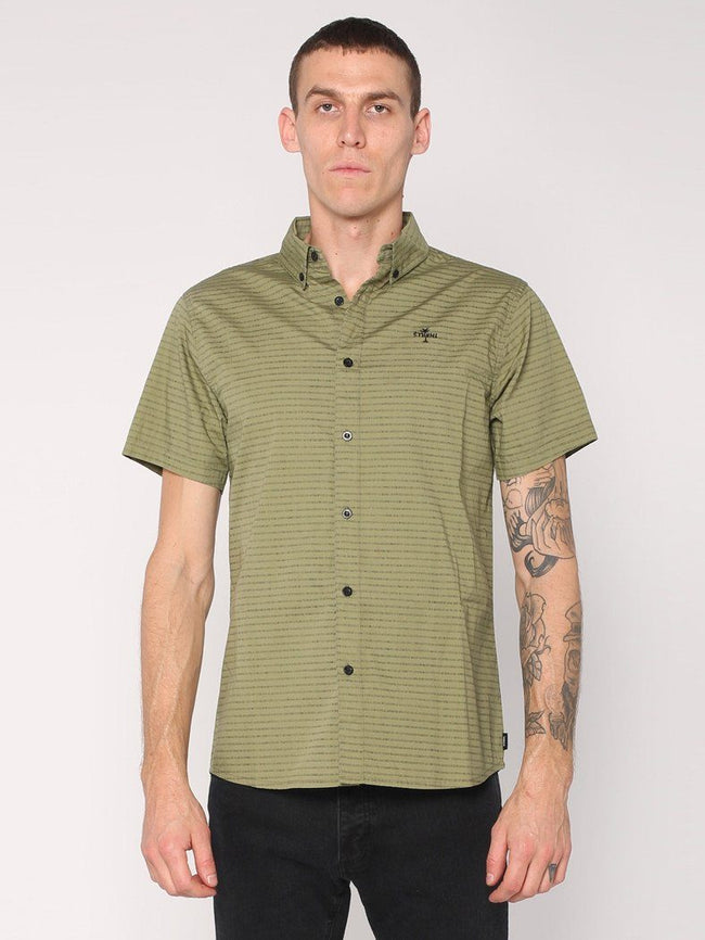 Inside Out Stripe Shirt - Army Green - THRILLS CO - 1