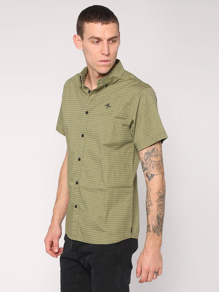 Inside Out Stripe Shirt - Army Green - THRILLS CO - 2