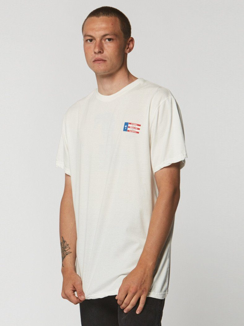 Nebraska Tee - Dirty White - Thrills Co
