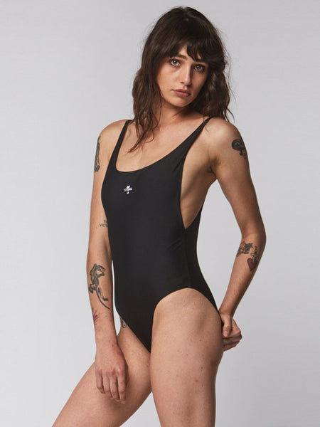 Thrills Palm Embro One Piece - Black - Thrills Co