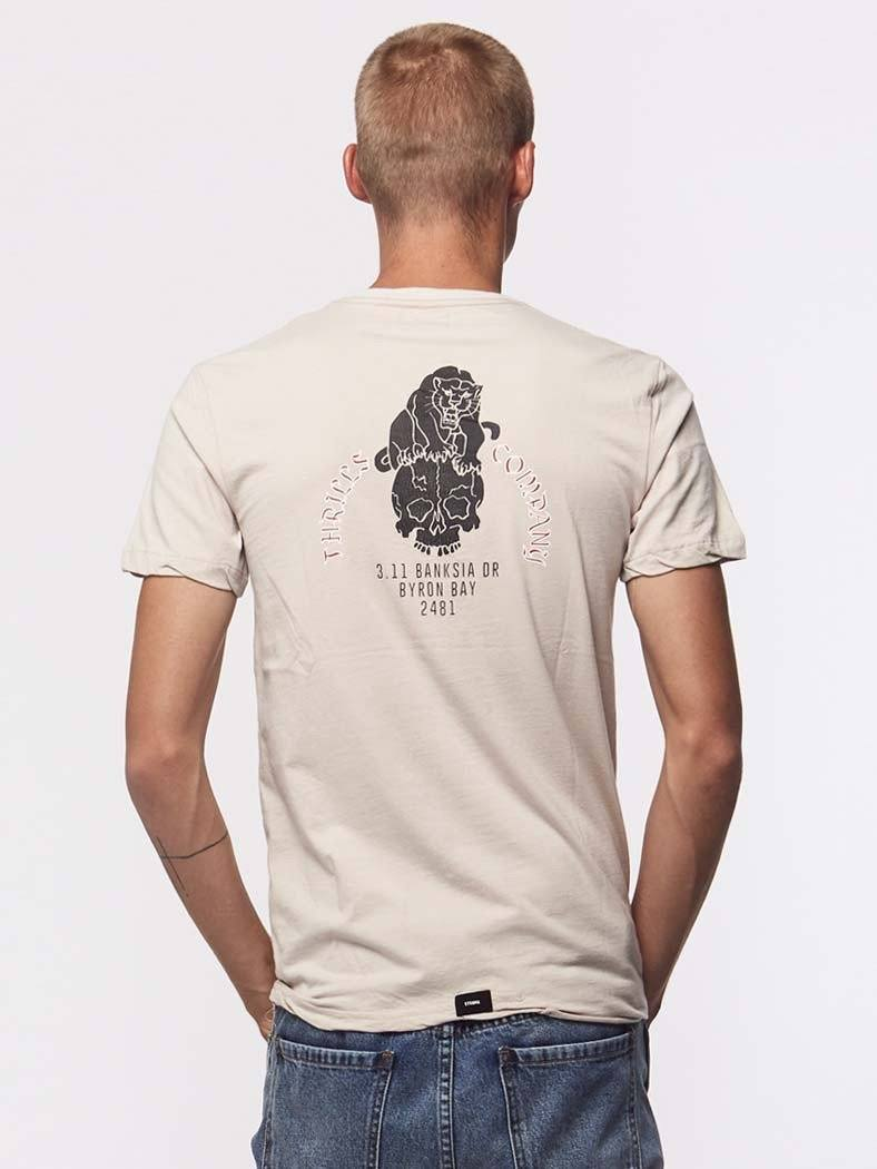 Panther Skull Tee - Sand