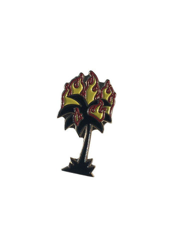 Burning Palm Enamel Pin - THRILLS CO - 1