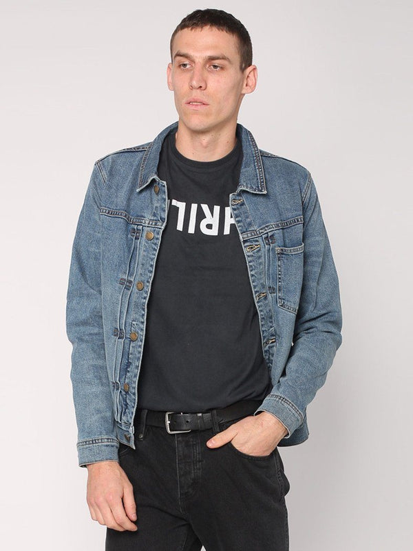 Pleated Ryder Jacket - Heritage Blue - THRILLS CO - 1