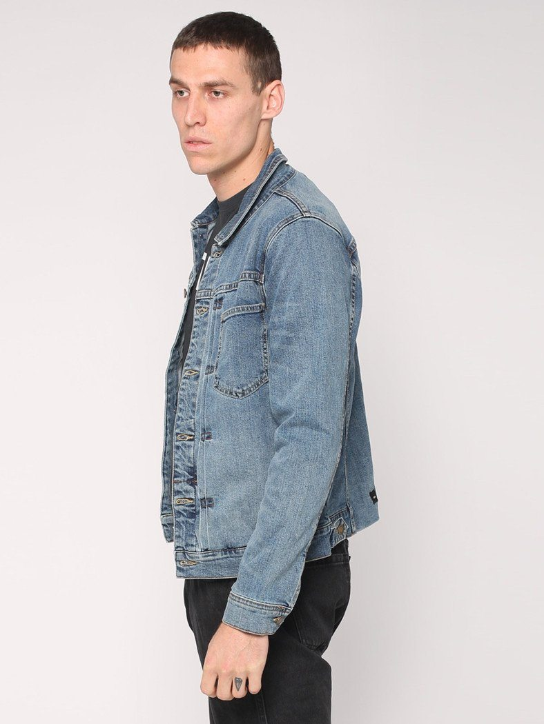 Pleated Ryder Jacket - Heritage Blue - THRILLS CO - 2