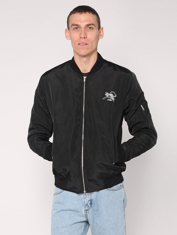 Rose Scithe Embroidery Bomber - Black - THRILLS CO - 2