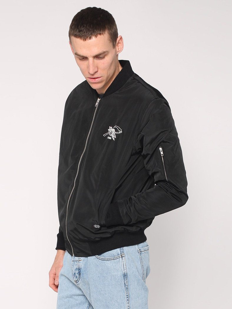 Rose Scithe Embroidery Bomber - Black - THRILLS CO - 3