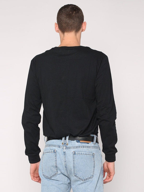 Rose Scithe Embroidery Long Sleeve Tee - Black - THRILLS CO - 3