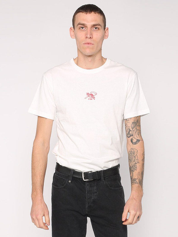 Rose Scithe Embroidery Tee - White - THRILLS CO - 1