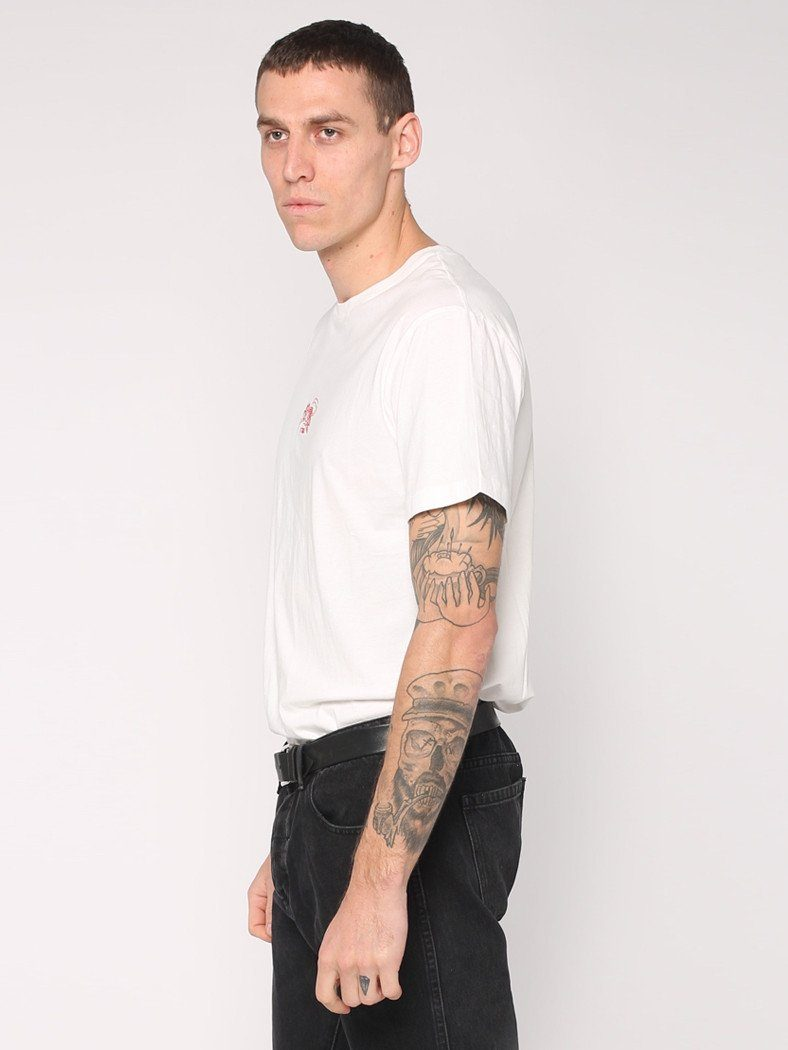 Rose Scithe Embroidery Tee - White - THRILLS CO - 2