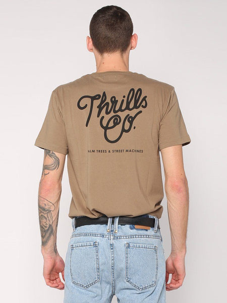 Script Thrills Co Tee - Army Green - THRILLS CO - 1