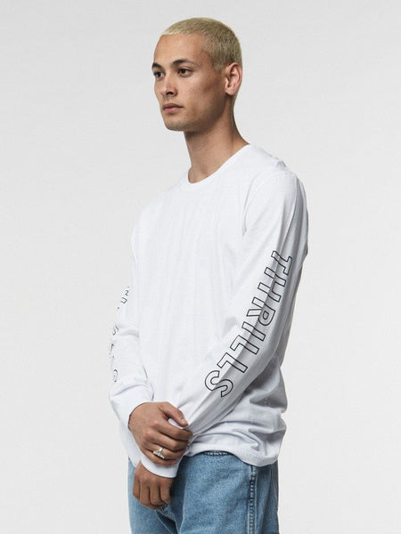 Outline Logo Long Sleeve - White