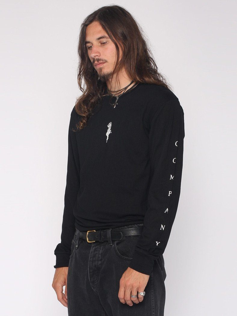 Snake Rose Long Sleeve Tee - Black - THRILLS CO - 2