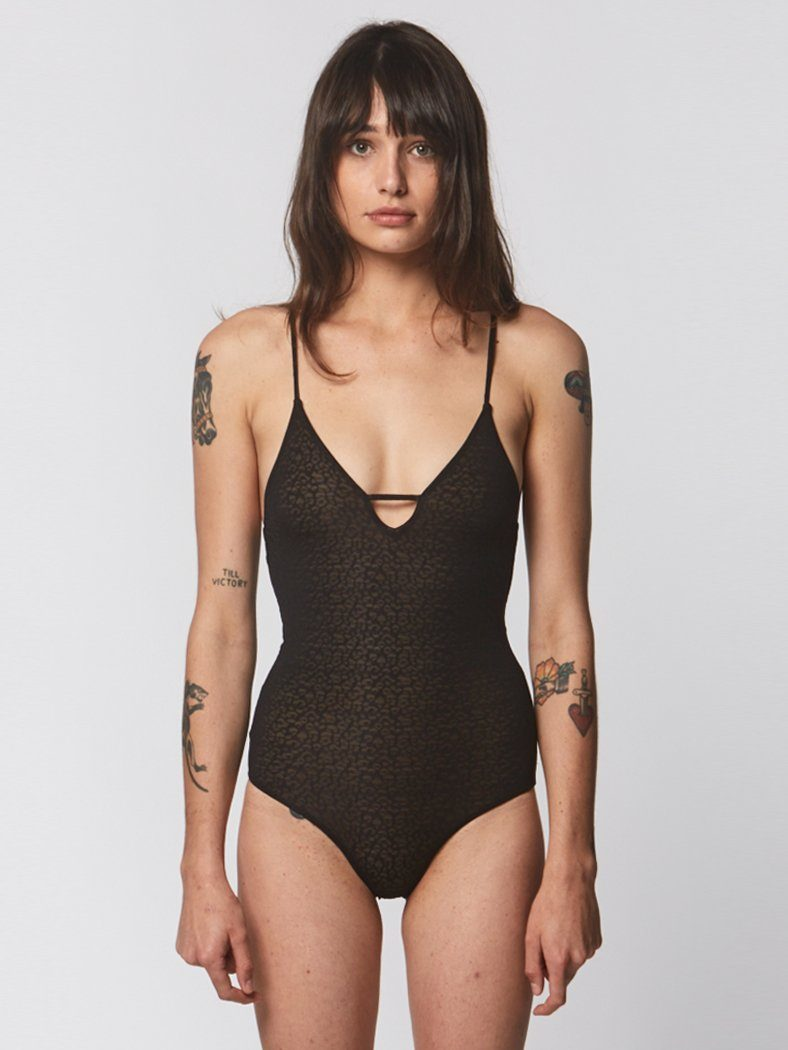 Sunset One Piece - Black Leopard - Thrills Co