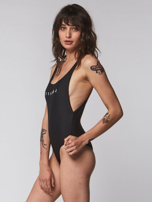 Thrills Classic One Piece - Black p- Thrills Co