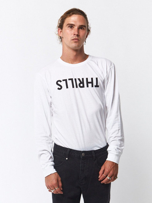 Thrills Long Sleeve Tee - White