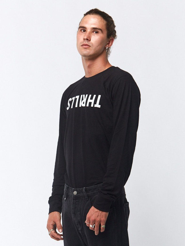 Thrills Long Sleeve Tee - Black