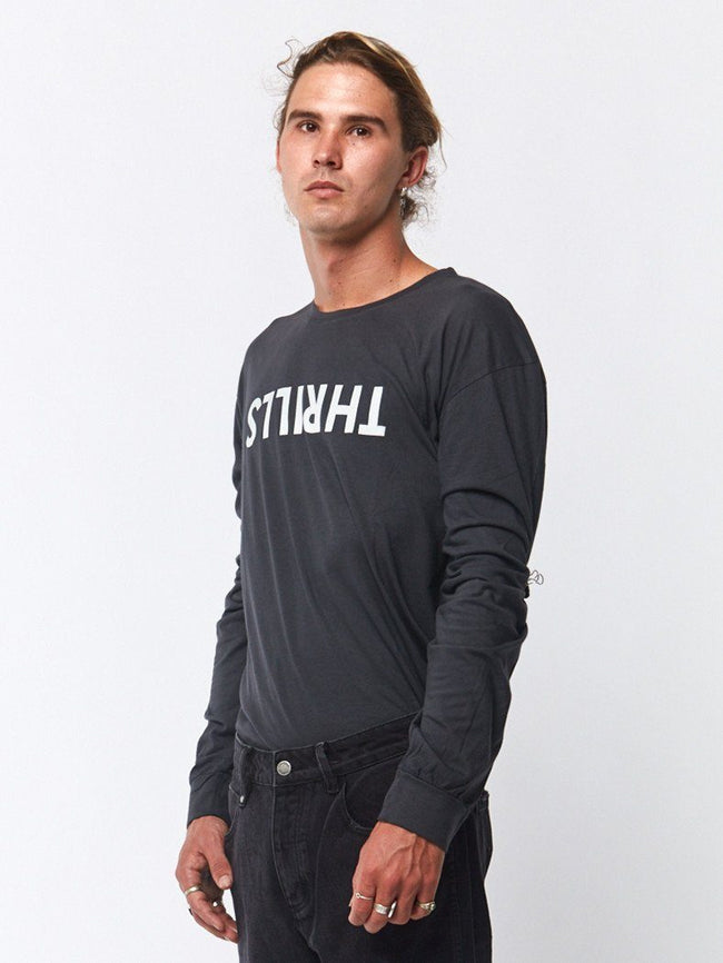 Thrills Long Sleeve Tee - Vintage Black