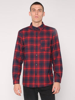 Watts Long Sleeve Shirt - Red - THRILLS CO - 1