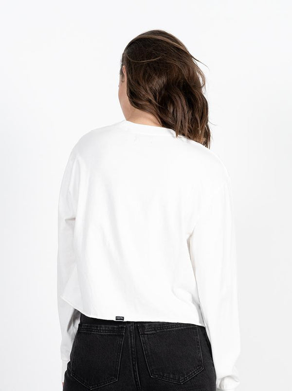 Cycles & Clothing Crop Long Sleeve - Dirty White