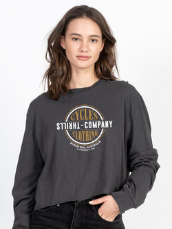 Cycles & Clothing Crop Long Sleeve - Merch Black