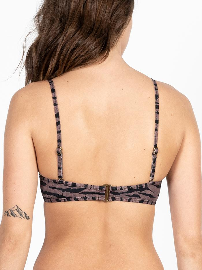 Concrete Jungle Bikini Top - Dark Brown