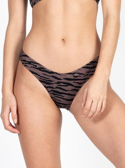 Concrete Jungle Bikini Bottom - Dark Brown