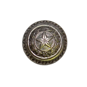 "1-1/2"" Lone Star Laurel Knob - Pewter"
