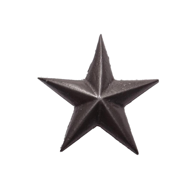 "2-1/2"" CAST STAR, NAIL IN - MEDIUM - PEWTER"