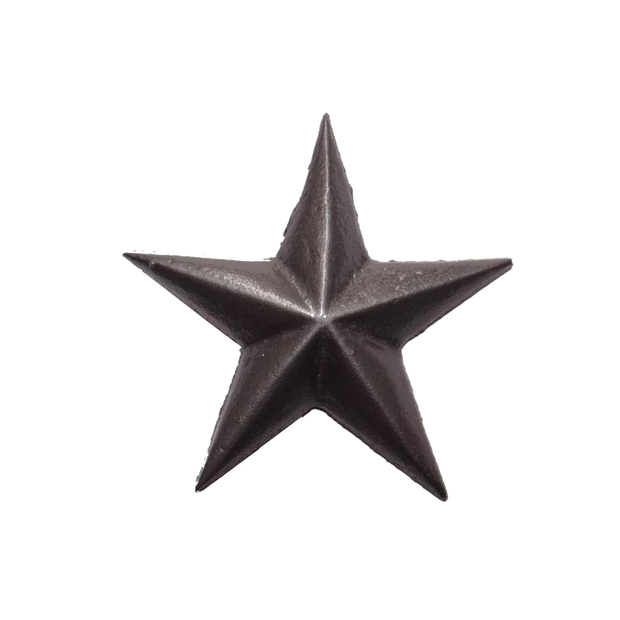 "1-3/4"" Cast Star, Nail In - Pewter"
