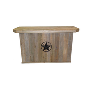 Outdoor Bar - Double - Star w/ Rope - Black