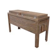 Rustic Double Coolers - Barbed Wire - HRCODB004B 5