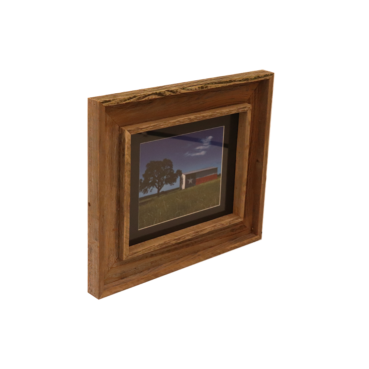 Wooden Double Frame Matte TX Barn