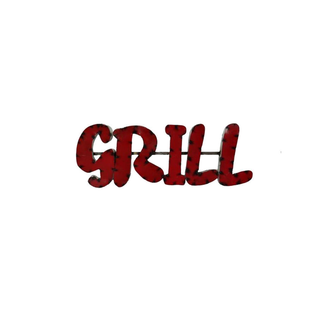 GRILL--METAL SIGN