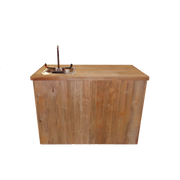 WET BAR - DOUBLE W/SINK - RUST