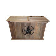 Rustic Double Trash Can - HRTCDB004B