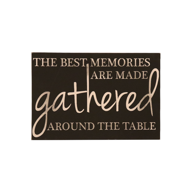"12"" x18"" Sign -""The best memories are made..."""