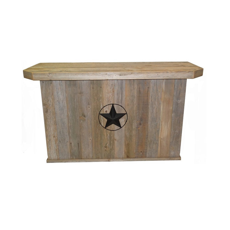 Outdoor Bar - Double - Star w/ Barbed Wire - Black