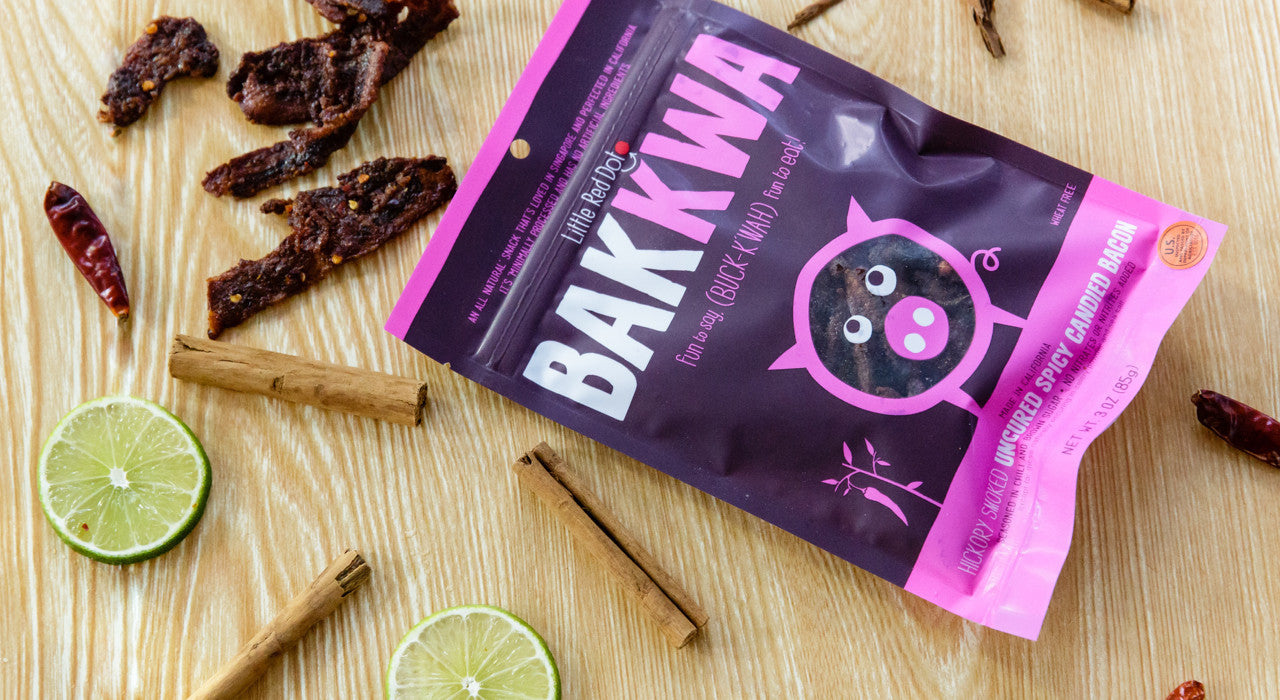 sofi gold medal savory snacks Hickory Smoked Spicy Candied Bacon Gluten Free protein rich snacks