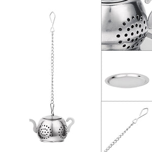 Tea Infuser Stainless steel Teapot Tray Spice Tea Strainer