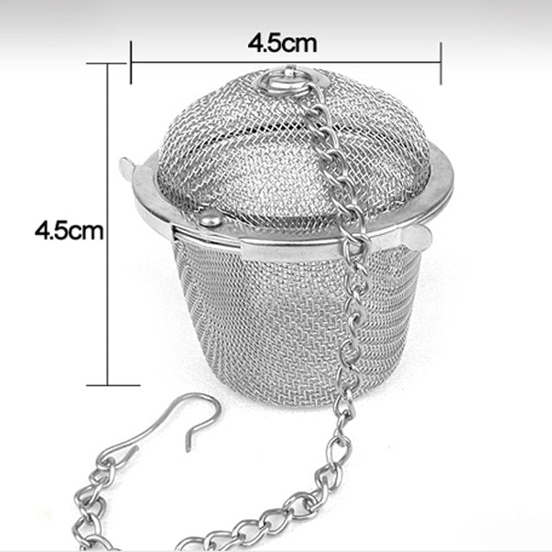 Portable Stainless Steel Tea Strainer