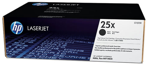 HP 25X (CF325X) LaserJet M806 Enterprise MFP flow M830 High Yield Black Original LaserJet Toner Cartridge (34500 Yield) (For the LaserJet Ent MFP Flow M830z Printer Only Yield is 40000)