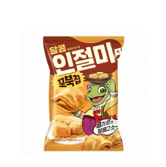 Orion Turtle Chips Injeolmi Large (160g) - CoKoYam